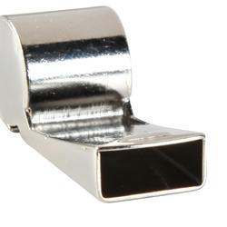 Scheidsrechtersfluitje metaal lichtgrijs - 133773