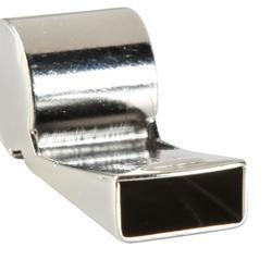 Metalen fluitje lichtgrijs