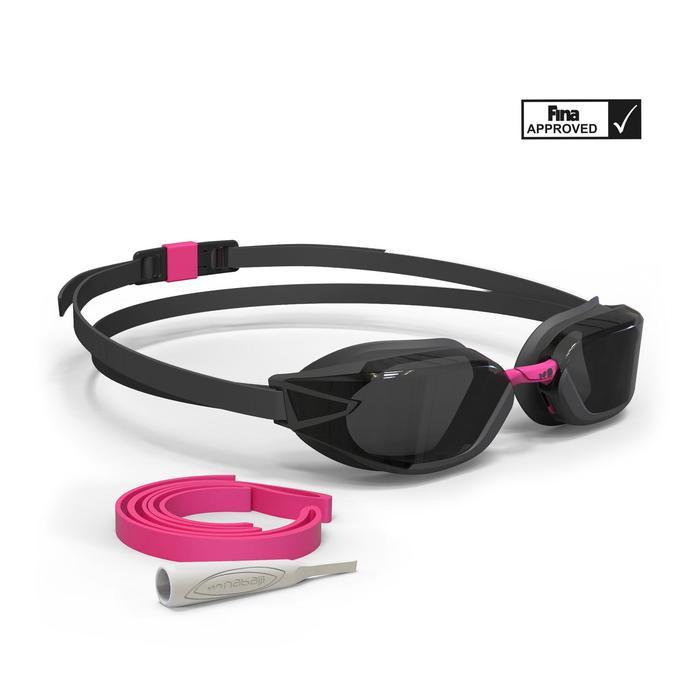 Lunettes de natation B-FAST noir rose - 1337734