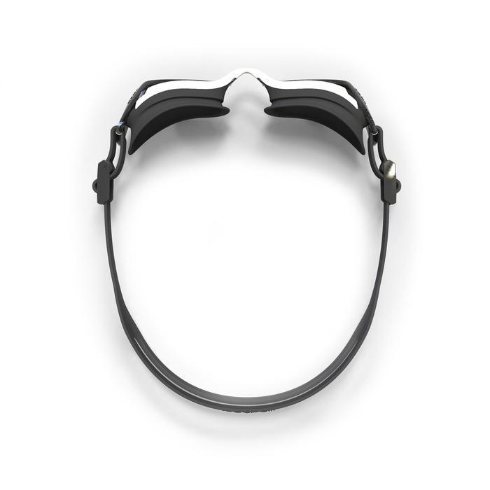 Lunettes de natation B-FIT  noir argent miroir - 1337736