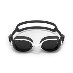 200度深色鏡片泳鏡B-FIT 500-黑色白色