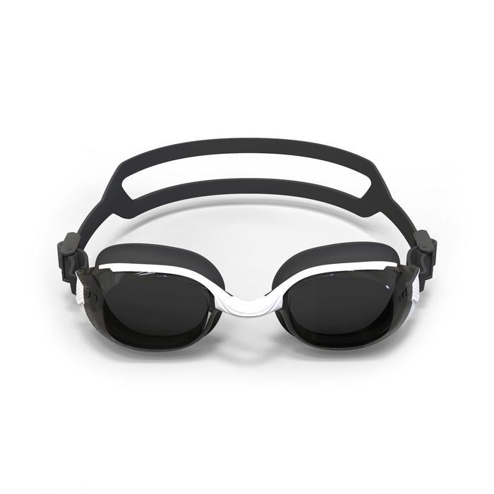 SWIMMING GOGGLES 500 B-FIT WHITE BLACK SMOKE LENSES 600° / -6