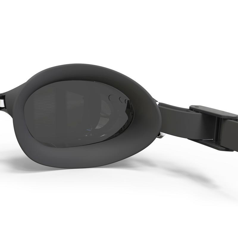 SWIMMING GOGGLES 500 B-FIT WHITE BLACK SMOKE LENSES
