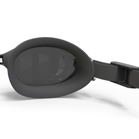 משקפת שחייה 500 B-FIT - לבן שחור, עדשות בגוון מעושן