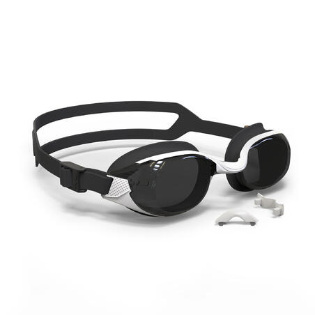 SWIMMING GOGGLES BFIT SMOKED LENSES - BLACK/WHITE