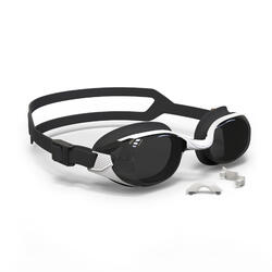 B-FIT 500 Swimming Goggles White Black Smoke Lenses