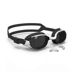 泳鏡500 B-FIT - 白色/黑色,深色鏡片
