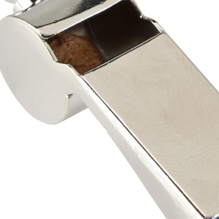 Sifflet en métal gris clair - 133774