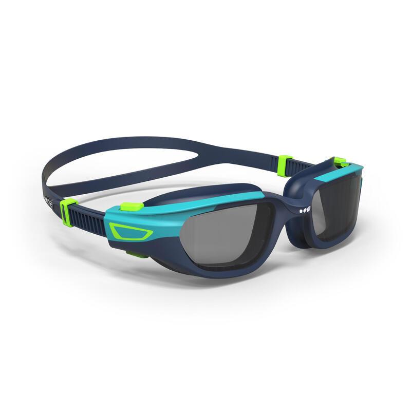 Lunettes de natation 500 SPIRIT Taille P bleu vert verres fumés