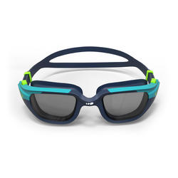 500 SPIRIT Swimming Goggles, Size S - Blue Green, Smoke Lenses