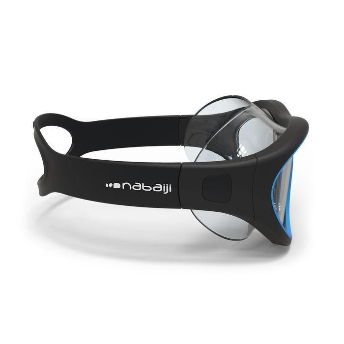 Gafas Natación Piscina Nabaiji 100 Swimdow Adulto Negro Entrenamiento Antivaho