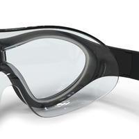 Máscara de Natación 100 Swimdow Negro Azul Talla L