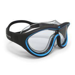 Zwemmasker Swimdow maat L zwart/blauw