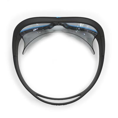 SWIMMING POOL MASK SWIMDOW SIZE L CLEAR LENSES - BLACK BLUE