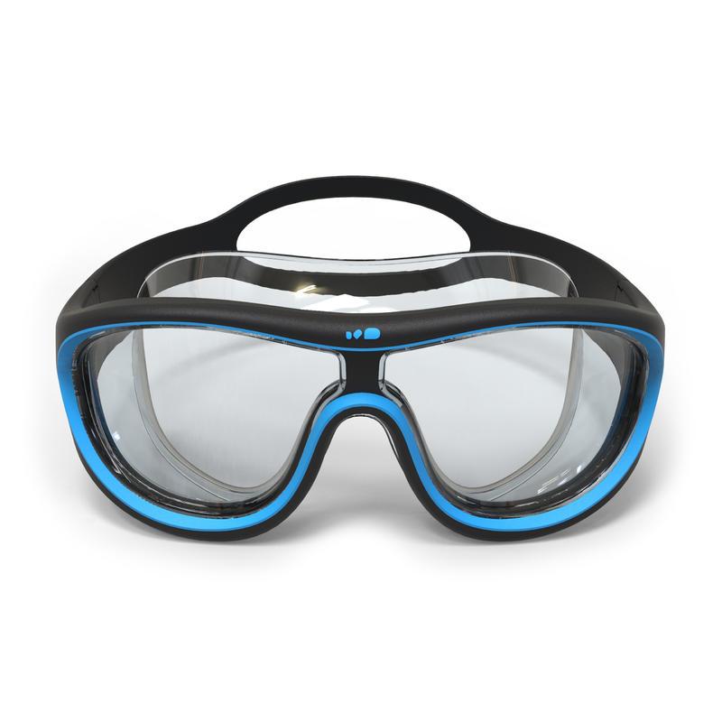 Máscara de natación SWIMDOW Talla L Negro Azul