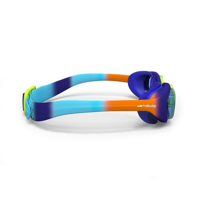 Zwembril X-Base Dye 100 maat S blauw/oranje