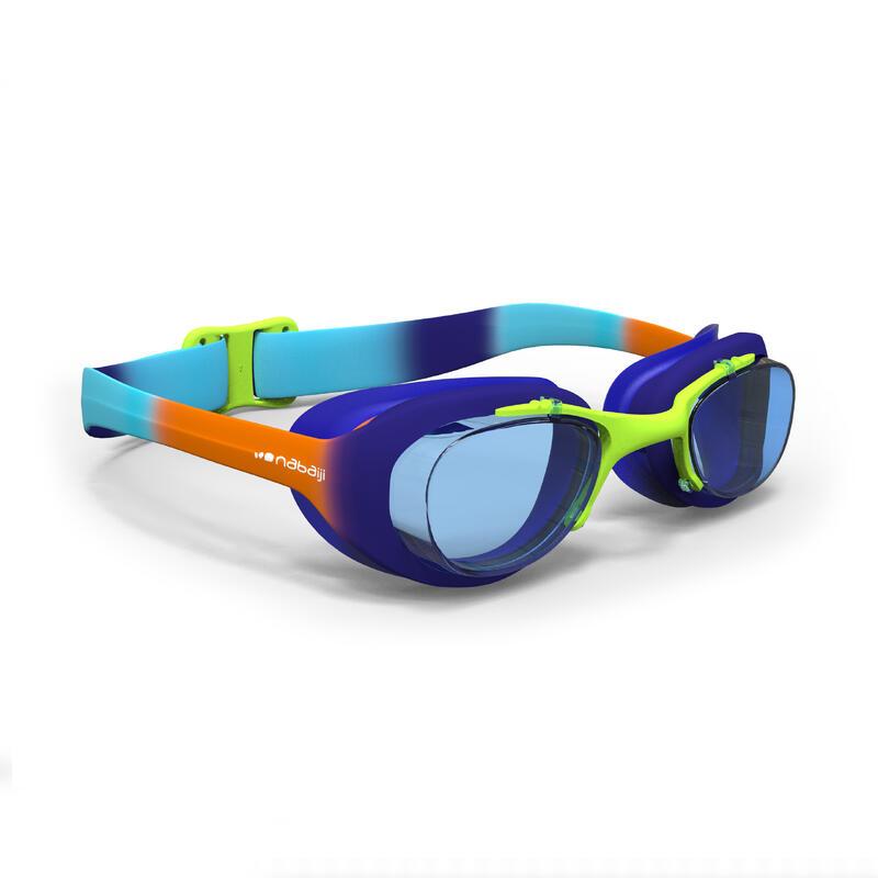 Zwembril met heldere glazen X-Base DYE maat S blauw oranje