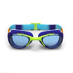 Zwembril 100 X-Base maat S Dye oranje/blauw