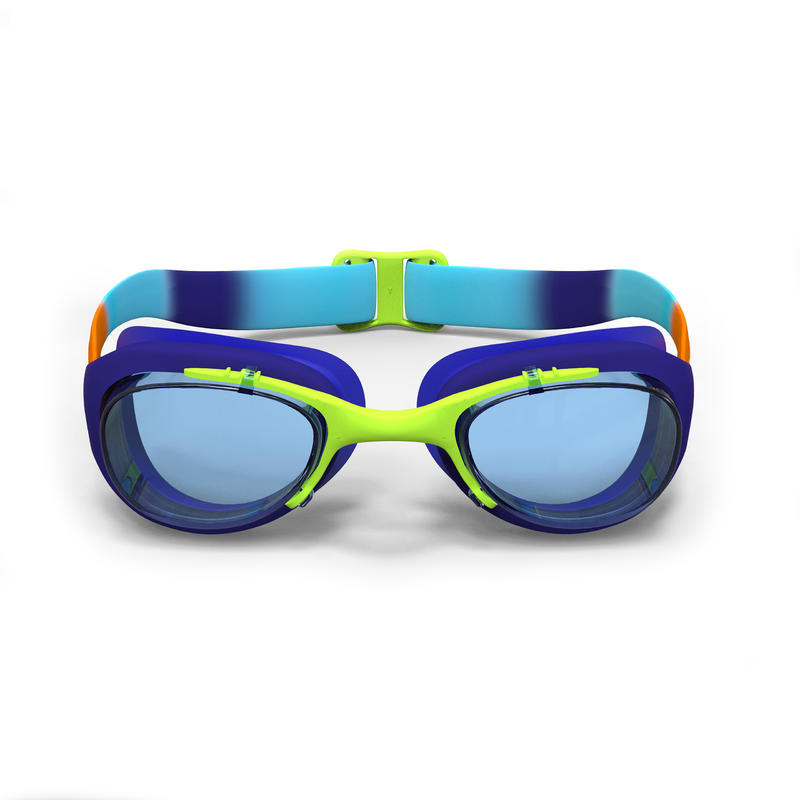 SWIMMING GOGGLES 100 XBASE SIZE S DYE ORANGE BLUE