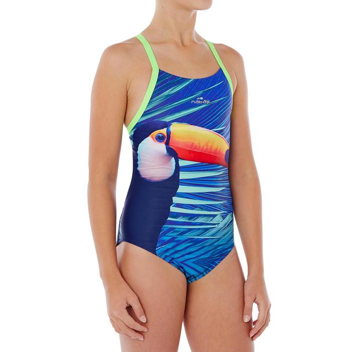 Maillot de bain de natation une pièce fille résistant au chlore Lidia - 1337782