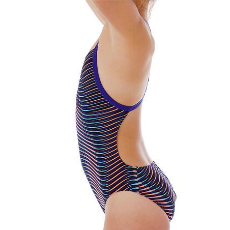 Baju Renang One-Piece Tahan Klorin Wanita Lidia - Vib blue