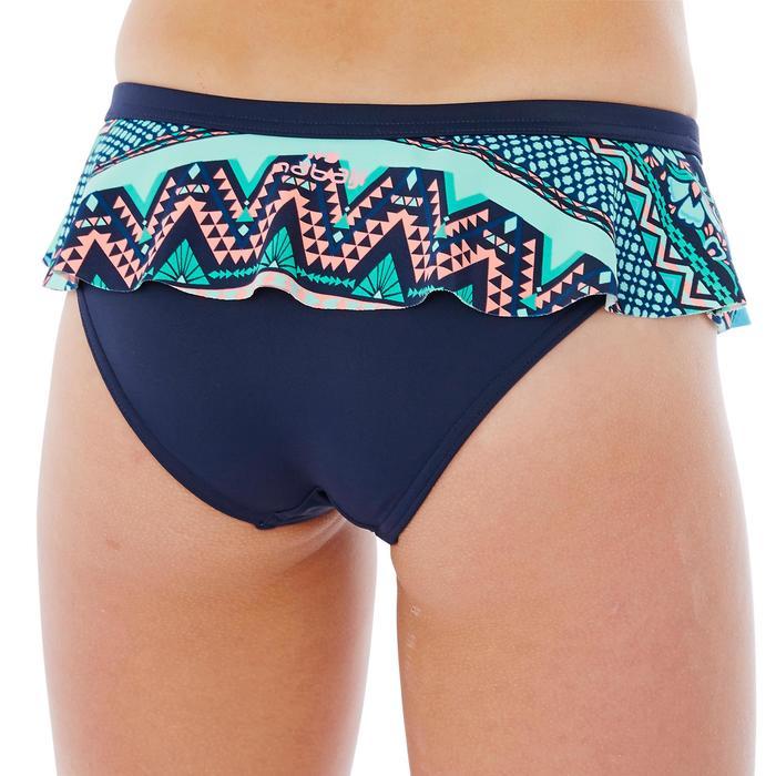 Bikini de natación niña Riana Skirt Flo Violeta Azul
