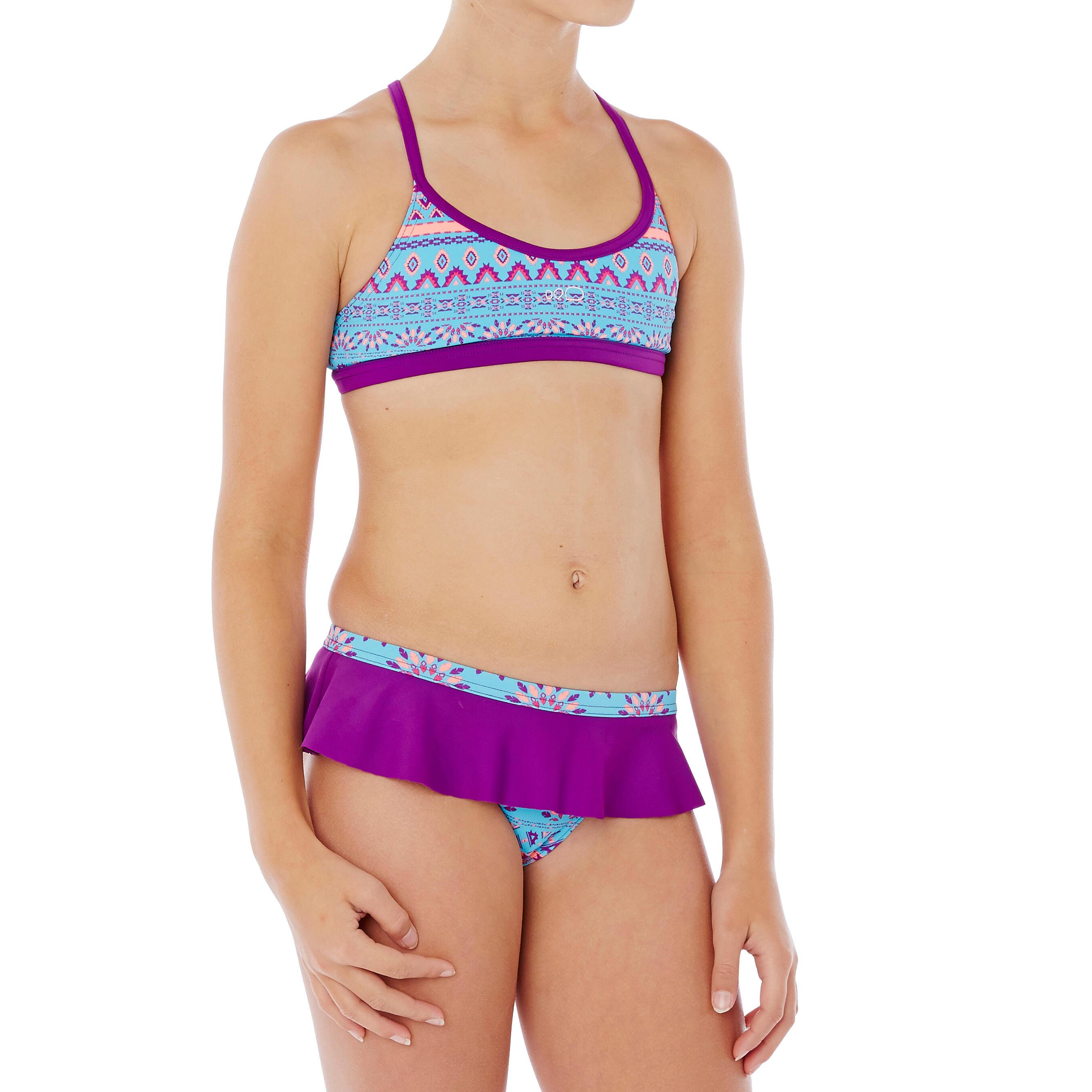 Bikini de natación niña Riana Skirt Plum Morado