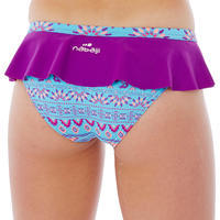 Riana Girls' Two-Piece Skirt Swimsuit - Plum Purple