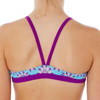 Maillot de natation fille deux pièces Riana jupe violet