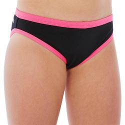 Choorbestendige zwemslip meisjes Jade zwart/roze