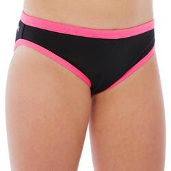 Bas de maillot de bain de natation fille résistant au chlore Jade noir rose
