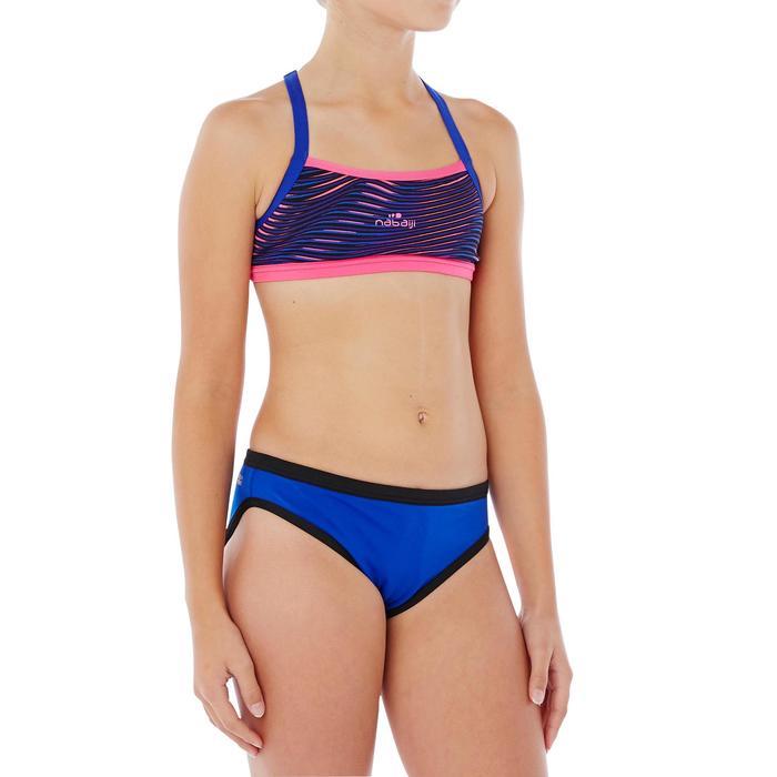 Bas de maillot de bain de natation fille résistant au chlore Jade noir rose - 1337815