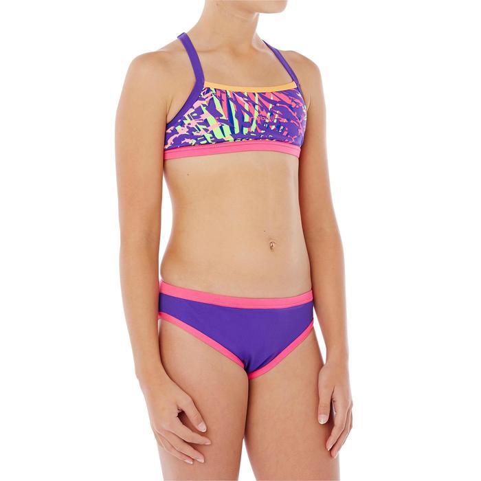 Bas de maillot de bain de natation fille résistant au chlore Jade noir rose - 1337817