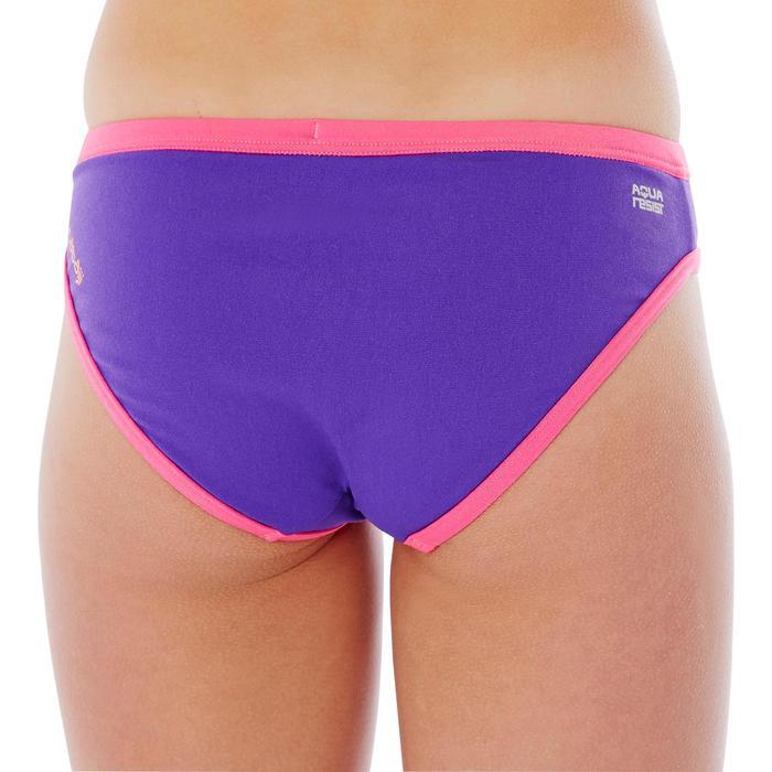 Bas de maillot de bain de natation fille résistant au chlore Jade noir rose - 1337818