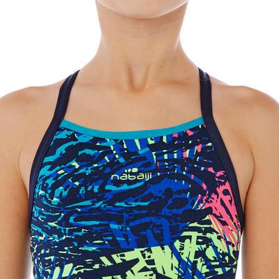ملابس سباحة Jade قطعة واحدة مقاوم للكلور للبنات - أزرق Jun