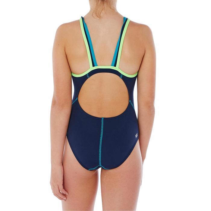 Badeanzug Kamiye chlorresistent Mädchen blau/grün