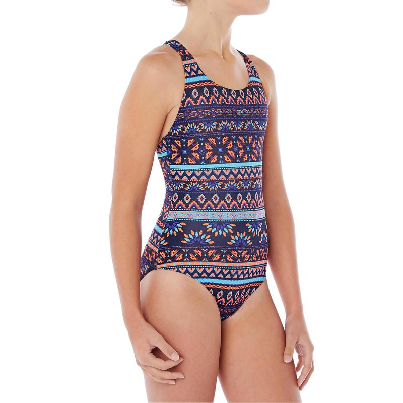 Leony Girls' One-Piece Swimsuit - Plum Blue