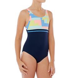 Maillot de natation fille une pièce Loran bleu