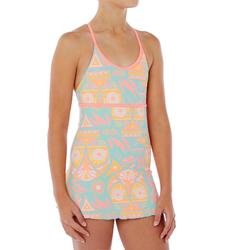 Riana Girls' One-Piece Swimsuit - Owly Green