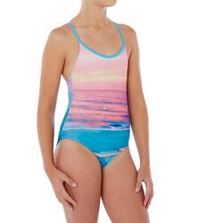 Bañador de natación una pieza para niña Riana Azul