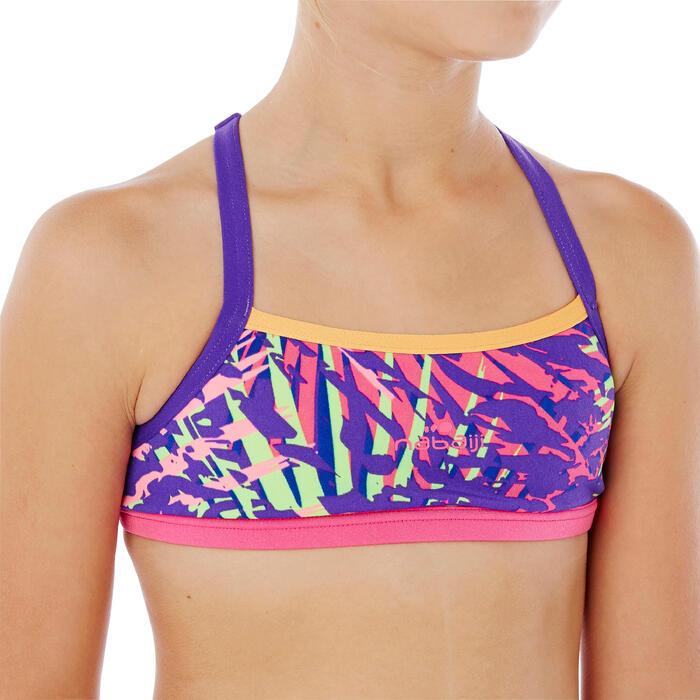 Brassière de natation fille ultra résistante au chlore Jade Vib - 1337871