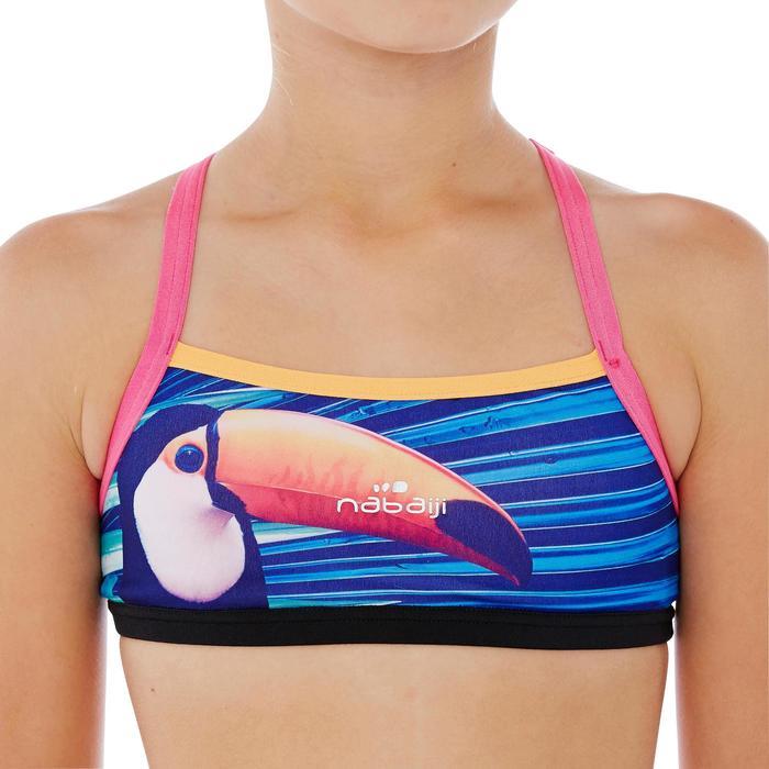 Brassière de natation fille ultra résistante au chlore Jade Vib - 1337872