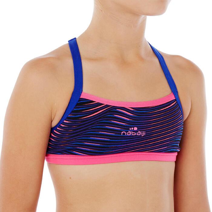 Brassière de natation fille ultra résistante au chlore Jade Vib - 1337883