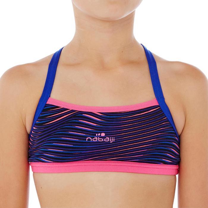 Brassière de natation fille ultra résistante au chlore Jade Vib - 1337884
