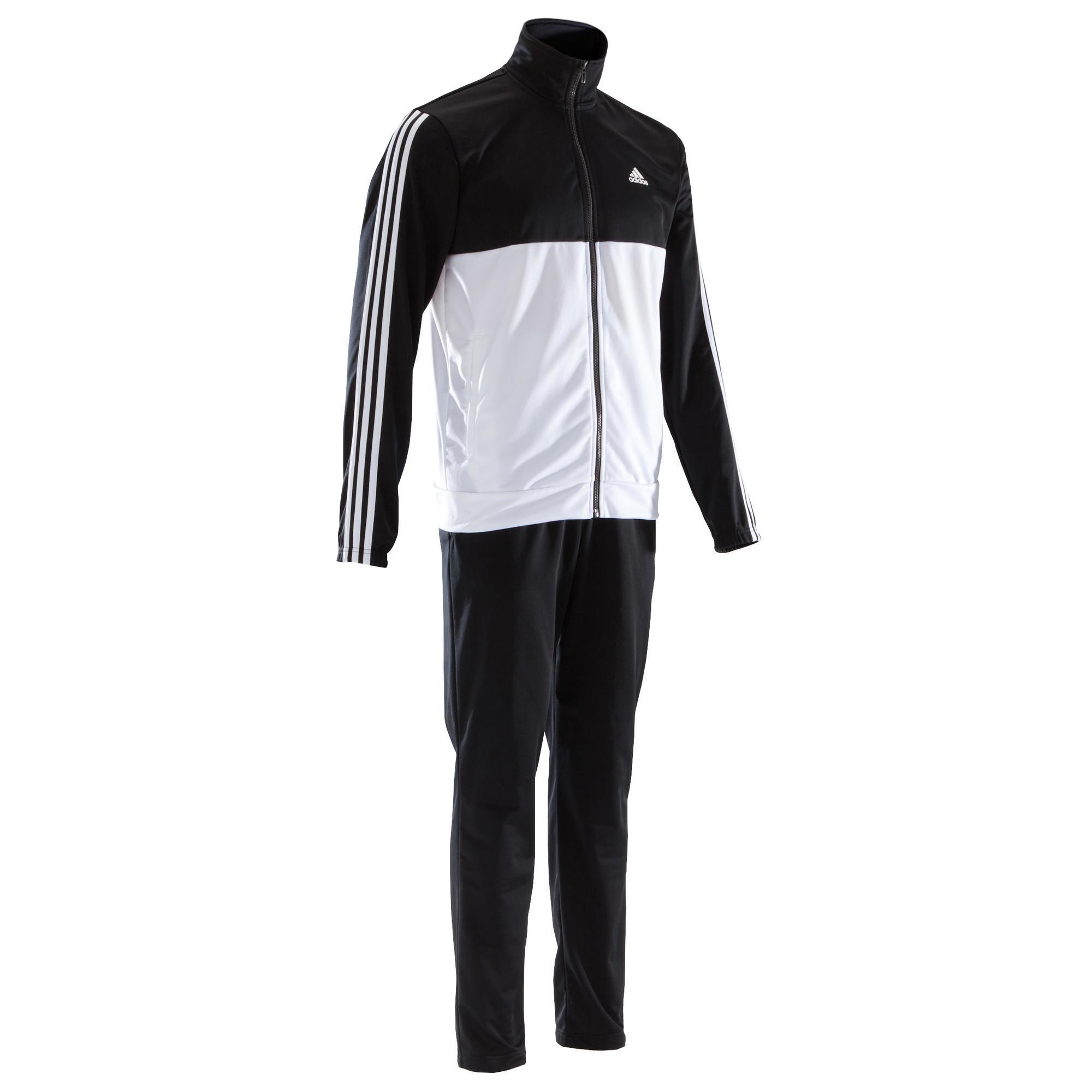 Adidas Trainingspak Adidas Shiny voor heren zwart en wit