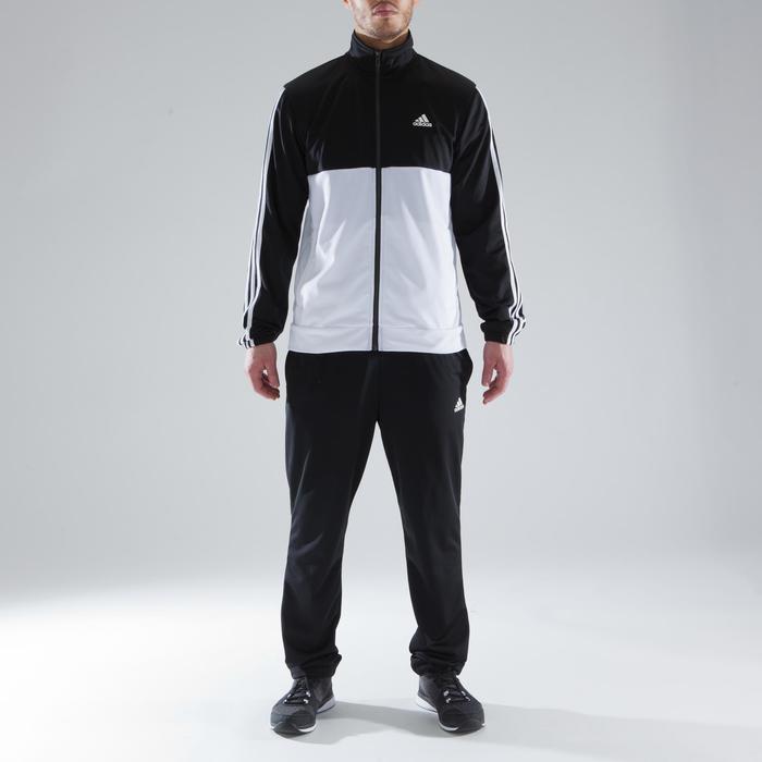 Trainingspak Adidas Shiny voor heren zwart en wit