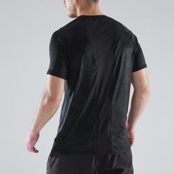 Camiseta de fitness cardio para hombre caqui FTS 500