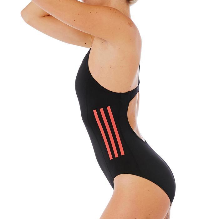 Damesbadpak Infinitex+ zwart rood