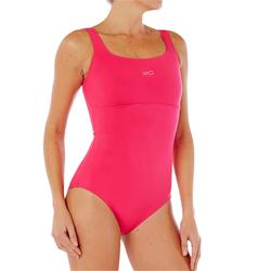 Maillot de bain de natation femme une pièce Heva+ rose