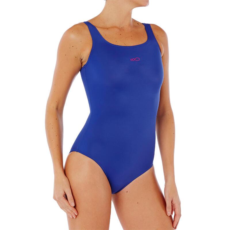 Traje de baño de natación para mujer una pieza Heva Azul